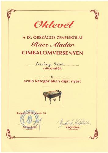 Surányi Petra  cimbalom II.