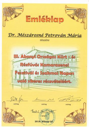 Dr. Mészárosné Petrován Mária