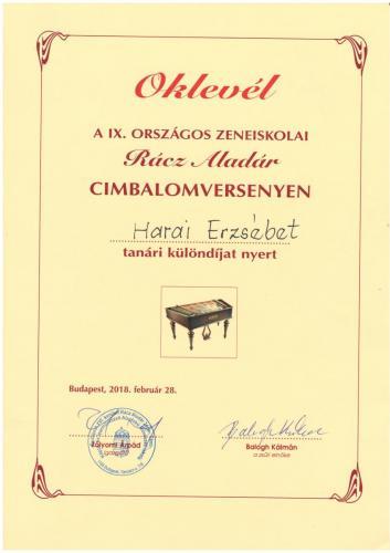 Harai Erzsi különdíj
